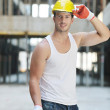 Hard worker on construction site — Stock Photo #6719143