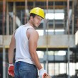 Hard worker on construction site — Stock Photo #6719281