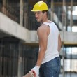 Hard worker on construction site — Stock Photo #6719331