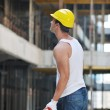 Hard worker on construction site — Stock Photo #6719391