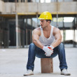 Hard worker on construction site — Stock Photo #6719449