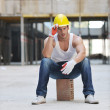 Hard worker on construction site — Stock Photo #6719500
