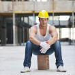 Hard worker on construction site — Stock Photo #6719561