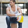 Hard worker on construction site — Stock Photo #6719620