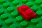 Plastic construction with red brick — Stockfoto