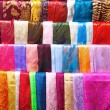 Silk scarfs - Stock Photo