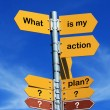 What is my action plan? - Stock Photo