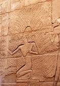 Egyptian stone carving — Stock Photo