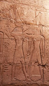 Hieroglyphs on the wall — Stock fotografie