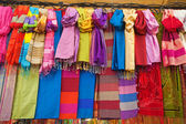 Multi-coloured scarfs — Stock Photo