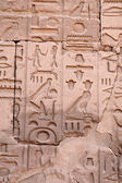 Hieroglyphs on the wall — Photo