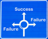 Success or failure — 图库照片