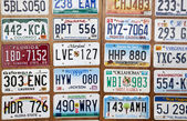 Car number plates — Stock Photo