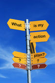 What is my action plan? — Stock Photo