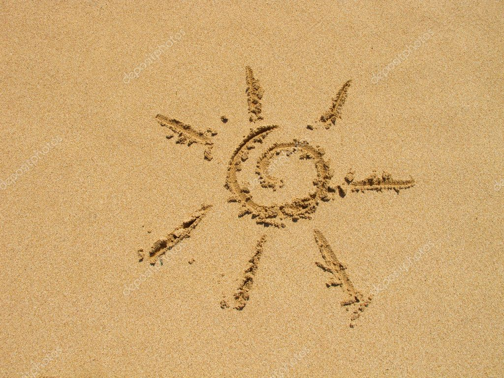 Sun Simple Drawing Simple Sun Drawing in The Sand