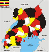 Uganda Map — Stock Photo