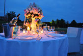 Romantic Outdoor Dinner — Stock Photo