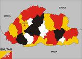 Bhutan map — Stock Photo