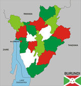 Burundi map — Stockfoto