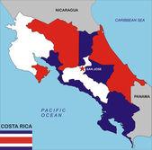 Costa Rica map — Stock Photo