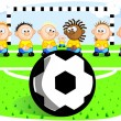 Football penalty — Stock Vector