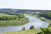 Bend of the Don River in Lipetsk Oblast, Russia. — Stock Photo