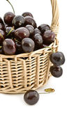 Large cherries in a basket. — Stock Photo