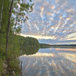 Evening at forest lake — Stock Photo #6260296