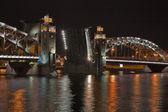 Ponte levatoio di notte — Foto Stock