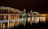 Night arched bridge — Stock Photo