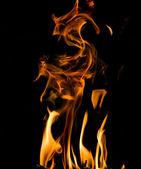 Colomn of orange flame — Stock Photo