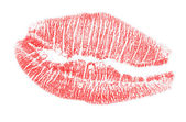 Red lips imprint — Stock Photo