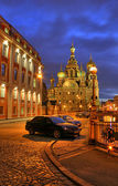Saint-petersburg orthodoxy temple — 图库照片