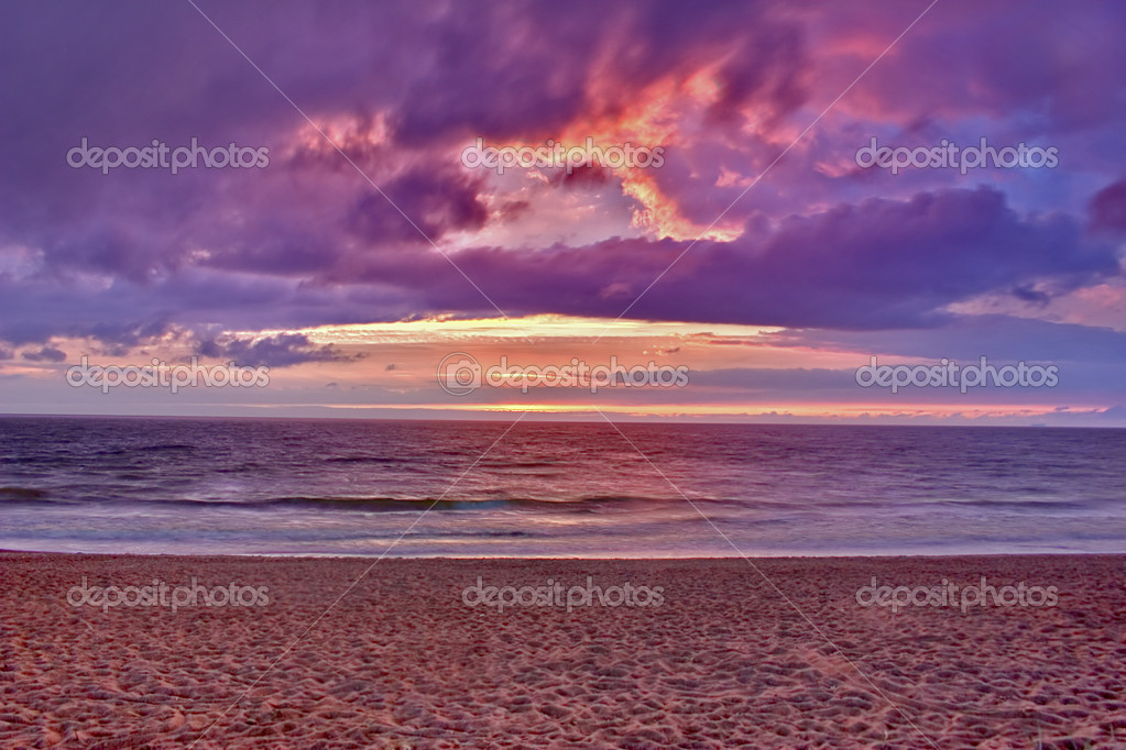 Summer landscape with sea sunset  — Stock Photo #6260432