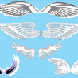 Royalty-Free Stock Vector Image: Five angel wings