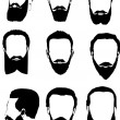 Men beard collection — Imagen vectorial