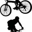 Two men on bicycles — Vector de stock #6260602