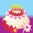 Royalty-Free Stock Vector Image: Cake and candles
