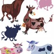 Funny cow illustration — Stock Vector