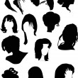 Twelve black woman hairstyles — Stock Vector #6261012