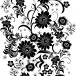 Gray and black flower bouquet — Stock Vector #6261266