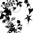 Silhouette of flower ornament — Stok Vektör