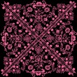 Royalty-Free Stock Vector Image: Square symmetric pink pattern