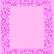 Pink floral frame decoration — Stock Vector