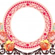 Royalty-Free Stock Vector Image: Rose red flowers frame