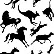 Stock Vector: Running animals collection