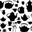 Tea and coffee ware set — Stock Vector #6261755