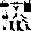 Woman accessory set - Stock Vector