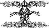 Cachos florais pretos — Vetorial Stock