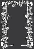 Frame decoration on dark grey background — Stock Vector
